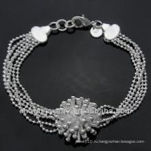 Мода серебро гальваническим браслеты моды очарование браслеты BSS-029