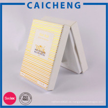Goldprägestreifen Weißbuch Geschenkbox mit Kunststoffeinsatz für Ölflaschenverpackung