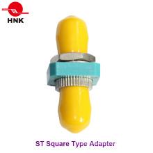St Simplex Tipo cuadrado adaptador de fibra óptica de metal
