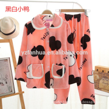 cute cartoon pattern girls warm soft Pajama