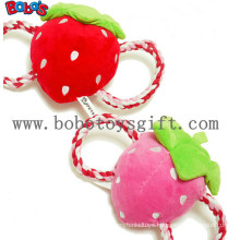 Squeaky Stuffed Pet Toy Plush Strawberry Cotton Rope Toy Bosw1069/15cm