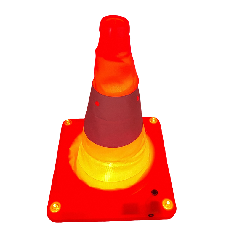 reflective telescopic road cone