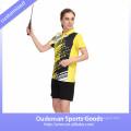 2017 Dry fit new design women badminton uniform