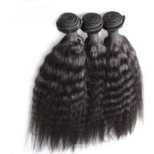 100% Brazilian virgin unprocessed human hair extension of black women Yaki straight