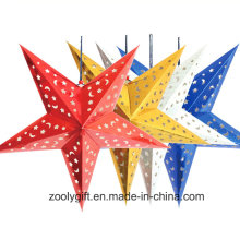 Carte laser Paper Hanging Star Party Décoration à la maison / Hang Paper Christmas Holiday Star Lanterns