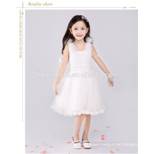 White color spaghetti strap flower girl dress ball gwon tutu birthday dress 1 year old girl