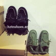 Women winter shoes with tassel decoration mocassin shoes