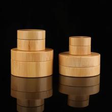 Cosmetic Bamboo Cream Bottle Wood Bamboo Cream Jar