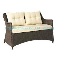 Wicker Love Seat Sofá de jardim Cadeiras de jardim