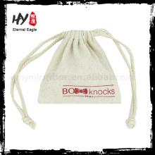 Bolsas de embalaje de regalo de lona de algodón reciclado suave para ventas al por mayor