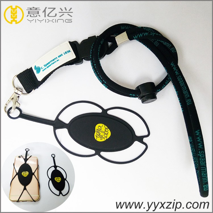 Silicone Short Lanyard Cell Phone Holder