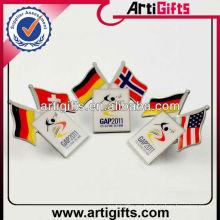 Wholesale pabellones de bandera doble del país del metal