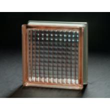 190 * 190 * 80mm rosa paralleler Glasblock