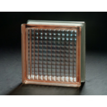 190*190*80mm Pink Parallel Glass Block