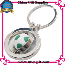 Metal Key Ring with 3D Football