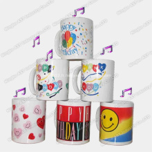 Mug promotionnel, tasse de musique, tasse, tasse de Noël