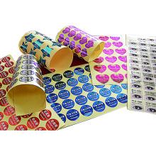 Kundenspezifisch gedruckter Produktaufkleber