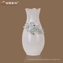 mais vendido flor de cerâmica decorativa de cor branca decorativa
