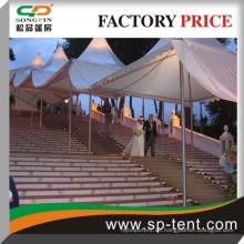 Double Side PVC beschichtet Polyester 6mx6m Günstige Outdoor Party Pagode Hochzeit Zelt mit PVC Wand