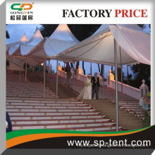 Double Side PVC Coated Polyester 6mx6m Cheap Outdoor Party Pagoda Wedding Tent With PVC Wall