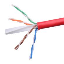 UTP CAT6 LSZH Cable Fluke Tested Soild Bare Copper Red