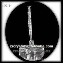 K9 Crystal Pen Holder con base en forma de corazón