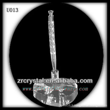 Porte-stylo en cristal K9 avec base en forme de coeur