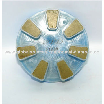 Resin polishing pad for floor renovation