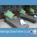 Mão especial tecelagem UV-resistente PE Rattan Sunbed