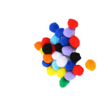 Factory direct sale 1cm-3cm in diameter Colorful Wedding Party PomPoms for art