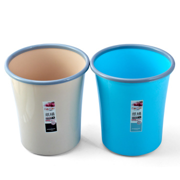Round Plastic Open Top Rubbish Bin