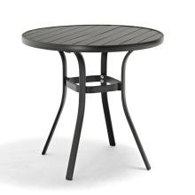 Hot sale aluminium PS wood plastic wood outdoor garden table