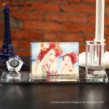 Foto de cristal de sublimación BXP06 Pen & Clock Set 280 * 100 * 75 mm