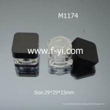Hot Sale Square Mini Loose Jar