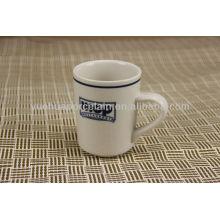 Porcelana personalizada de la impresión del logotipo tazas de café