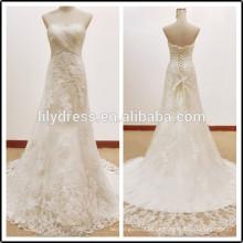 Lace White Sweetheart Decote Comprimento do Pavimento Custom Made Longo Formal Bridal BW285 vestidos de casamento royal picture