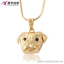 32523 Xuping trendy dog cabeça pingente de bronze de moda de ouro imitação de jóias por atacado