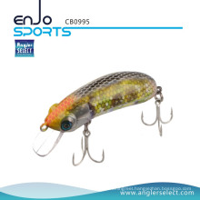 Angler Select Crankbait Shallow Fishing Tackle Bait with Bkk Treble Hooks (CB0995)