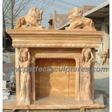 Chimenea al aire libre para Mantel de mármol de piedra (QY-LS147)