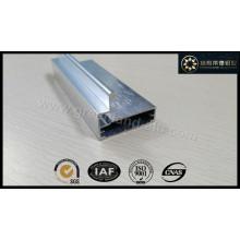 Perfil de aluminio para la puerta de la cocina de plata anodizado cepillado