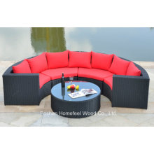 1+4 Pieces Wicker Corner Sofa Set (OT08)