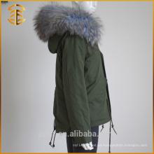 Venta directa de fábrica Lady Jackets Coat Ladies Zipper Parka piel de las mujeres