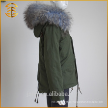 Venda Directa de fábrica Lady Jackets Coat Ladies Zipper Mulheres Fur Parka
