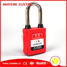 Serrures de verrouillage de sécurité de cadenas de sécurité d'OEM de loto d'ABS de 38mm