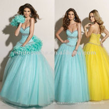 NY-2350 Sweetheart beaded bust quinceanera dress