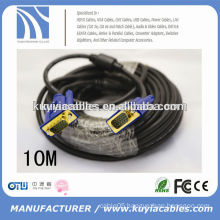 Premium HD15 male-to-male VGA cable with ferrites core for computer to LCD /LED TV