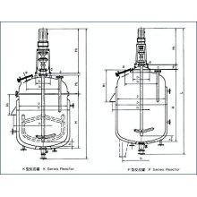 Cuve de fermentation / Réacteur agité à double enveloppe