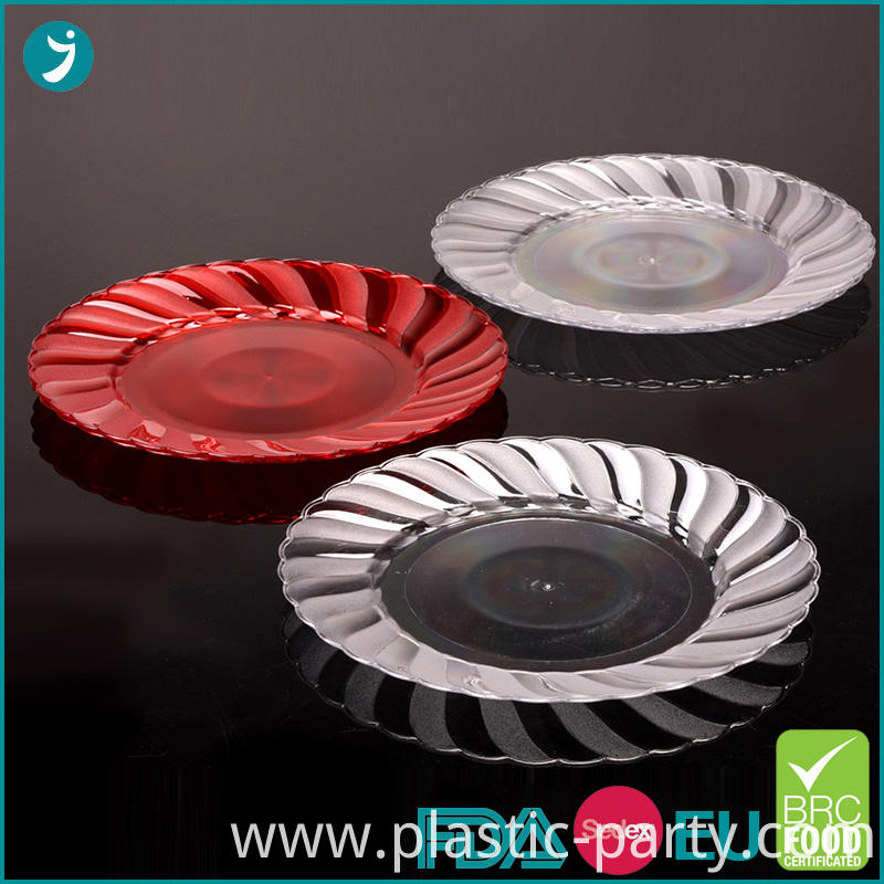 Plastic Plate Party Scalloped 7.5 Inch