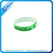Silk Screen Print PVC Promotional Wristband Custom Fashion Design
