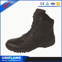 Middle Cut Black Cloth and Leather Upper Riding Safety Boots